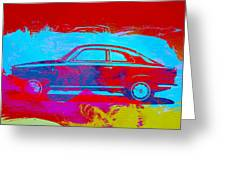 Alfa Romeo  Watercolor 1 Greeting Card by Naxart Studio