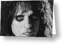 Alice Cooper Greeting Card by Antony McAulay