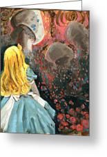 Alice In Mushroom Acres Greeting Card by Luis  Navarro