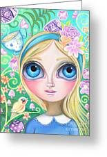 Alice In Pastel Land Greeting Card by Jaz Higgins