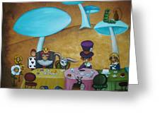 Alice in Wonderland Art - Mad Hatter's Tea Party I Greeting Card by Charlene Murray Zatloukal