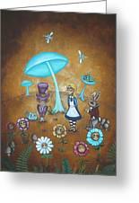 Alice In Wonderland - In Wonder Greeting Card by Charlene Murray Zatloukal