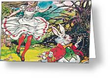 Alice in Wonderland Greeting Card by Jesus Blasco