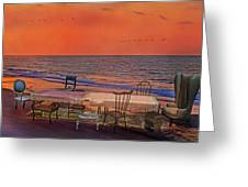Alice's Topsail Island Tea Greeting Card by Betsy A  Cutler