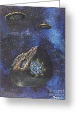 Alien Space Factory Greeting Card by Murphy Elliott