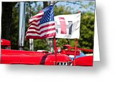 All American Greeting Card by Bill Wakeley
