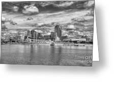 All American City 2 Bw Greeting Card by Mel Steinhauer