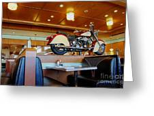 All American Diner 4 Greeting Card by Bob Christopher