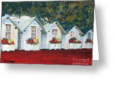 All In A Row Greeting Card by Sandy Linden