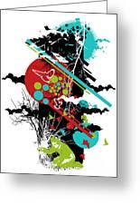 All Is Vanity Greeting Card by Budi Satria Kwan