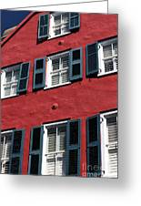 All Red Greeting Card by John Rizzuto