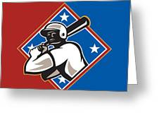 All Star Baseball Tournament Retro Poster Greeting Card by Aloysius Patrimonio