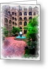 Allegheny County Courthouse Courtyard Greeting Card by Amy Cicconi