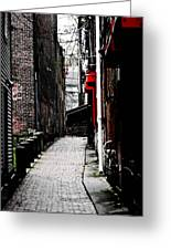 Alley Greeting Card by Allan Millora