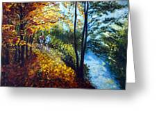 Alley By The Lake 1 Greeting Card by Harsh Malik