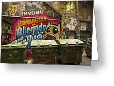 Alley Graffiti Greeting Card by Stuart Litoff