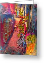 Alley In Poulsbo Greeting Card by Kari Nanstad