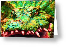 Alligator 20130702 Greeting Card by Wingsdomain Art and Photography