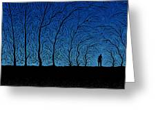 Alone In The Forrest Greeting Card by Gianfranco Weiss