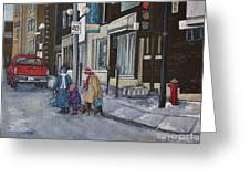 Along The Boulevard Greeting Card by Reb Frost