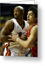 Alonzo Mourning Greeting Card by Don Olea