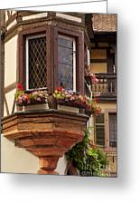 Alsace Window Greeting Card by Brian Jannsen