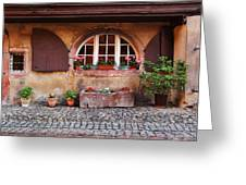 Alsatian Home In Kaysersberg France Greeting Card by Greg Matchick