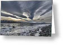 Altocumulous Standing Lenticular Clouds Greeting Card by Darryl Luscombe