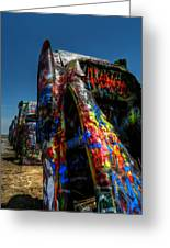 Amarillo -  Cadillac Ranch 006 Greeting Card by Lance Vaughn