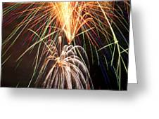 Amazing Fireworks Greeting Card by Garry Gay