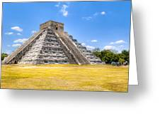 Amazing Mayan Pyramid At Chichen Itza Greeting Card by Mark Tisdale