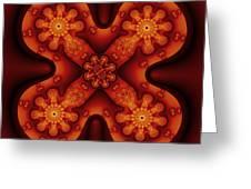 Amber Cross Greeting Card by Mark Eggleston