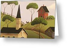 Amber Hills Greeting Card by Catherine Holman