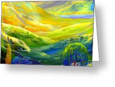 Amber Skies Greeting Card by Jane Small