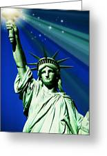 America Greeting Card by Diana Angstadt