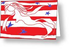 America Free Falling  Greeting Card by Anita Dale Livaditis