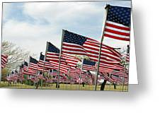 America Salute Greeting Card by Jack Melton