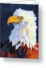 American Bald Eagle Greeting Card by Mike Lester