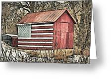 American Barn Greeting Card by Trish Tritz