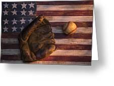 American Baseball Greeting Card by Garry Gay