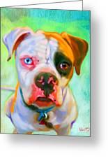 American Bulldog Art Greeting Card by Iain McDonald