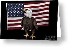American Eagle Greeting Card by Karen Sheltrown