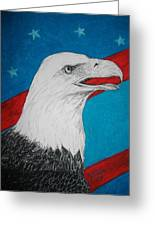 American Eagle Greeting Card by Maricay Smeenk