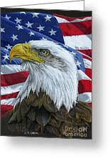 American Eagle Greeting Card by Sarah Batalka