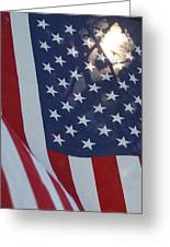 American Flag - 01131 Greeting Card by DC Photographer