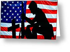 American Flag At Rest Greeting Card by Bob Orsillo