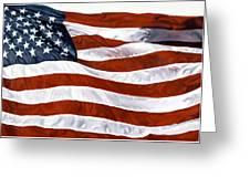 American Flag Greeting Card by John Zaccheo