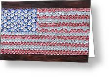 American Flag Greeting Card by Kay Galloway