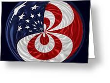 American Flag Orb Greeting Card by Paulette Thomas