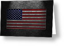 American Flag Stone Texture Greeting Card by Brian Carson